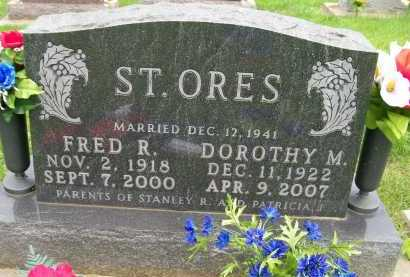 ST. ORES, FRED R. - Hancock County, Illinois | FRED R. ST. ORES - Illinois Gravestone Photos