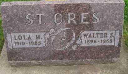 ST. ORES, LOLA M. - Hancock County, Illinois | LOLA M. ST. ORES - Illinois Gravestone Photos