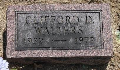WALTERS, CLIFFORD D. - Hancock County, Illinois | CLIFFORD D. WALTERS - Illinois Gravestone Photos
