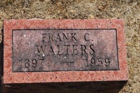 WALTERS, FRANK C. - Hancock County, Illinois | FRANK C. WALTERS - Illinois Gravestone Photos