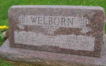 WELBORN, JAMES D. - Hancock County, Illinois | JAMES D. WELBORN - Illinois Gravestone Photos