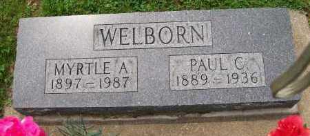 WELBORN, MYRTLE A. - Hancock County, Illinois | MYRTLE A. WELBORN - Illinois Gravestone Photos
