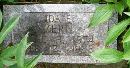 ZERN, IDA E. - Hancock County, Illinois | IDA E. ZERN - Illinois Gravestone Photos