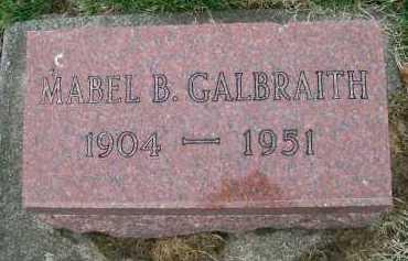 GALBRAITH, MABEL B. - Henderson County, Illinois | MABEL B. GALBRAITH - Illinois Gravestone Photos