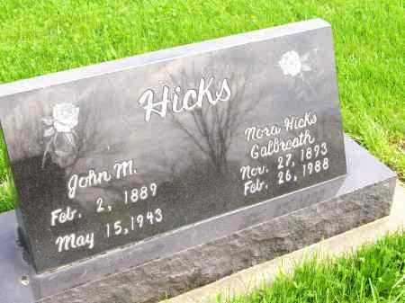 HICKS, JOHN MARION - Henderson County, Illinois | JOHN MARION HICKS - Illinois Gravestone Photos