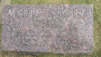 JONES, MYRLE LUCILE - Henderson County, Illinois | MYRLE LUCILE JONES - Illinois Gravestone Photos