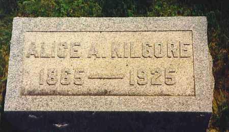 MCKINLEY KILGORE, ALICE A. - Henderson County, Illinois | ALICE A. MCKINLEY KILGORE - Illinois Gravestone Photos