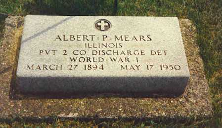 MEARS, ALBERT PHILIP - Henderson County, Illinois   ALBERT PHILIP MEARS - Illinois Gravestone Photos