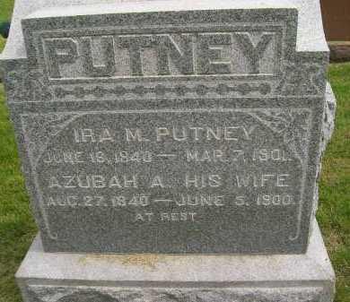 PUTNEY, AZUBAH A. - Henderson County, Illinois | AZUBAH A. PUTNEY - Illinois Gravestone Photos
