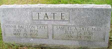 RALSTON TATE, MINNIE - Henderson County, Illinois | MINNIE RALSTON TATE - Illinois Gravestone Photos