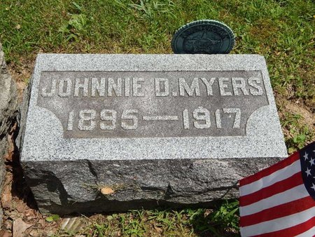 MYERS, JOHNNIE D - Jefferson County, Illinois | JOHNNIE D MYERS - Illinois Gravestone Photos