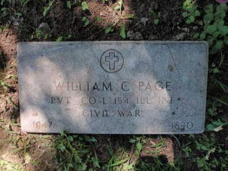 PAGE, WILLIAM C - Jefferson County, Illinois | WILLIAM C PAGE - Illinois Gravestone Photos
