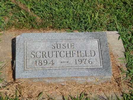 SCRUTCHFIELD, SUSIE - Jefferson County, Illinois | SUSIE SCRUTCHFIELD - Illinois Gravestone Photos