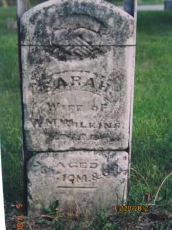 WILKINS, SARAH - Marion County, Illinois | SARAH WILKINS - Illinois Gravestone Photos