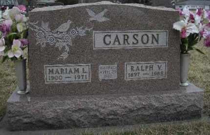WETZEL CARSON, MARIAM LISTENE - McDonough County, Illinois | MARIAM LISTENE WETZEL CARSON - Illinois Gravestone Photos