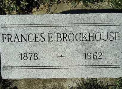 BROCKHOUSE, FRANCES E. - Morgan County, Illinois | FRANCES E. BROCKHOUSE - Illinois Gravestone Photos