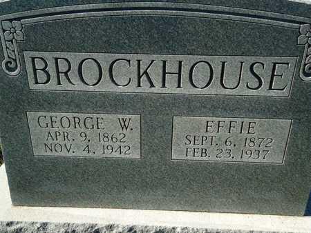 BROCKHOUSE, GEORGE W. - Morgan County, Illinois | GEORGE W. BROCKHOUSE - Illinois Gravestone Photos