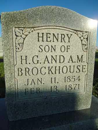 BROCKHOUSE, HENRY - Morgan County, Illinois   HENRY BROCKHOUSE - Illinois Gravestone Photos