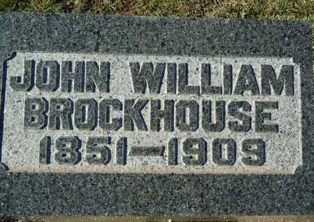 BROCKHOUSE, JOHN WILLIAM - Morgan County, Illinois | JOHN WILLIAM BROCKHOUSE - Illinois Gravestone Photos