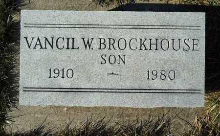BROCKHOUSE, VANCIL W. - Morgan County, Illinois | VANCIL W. BROCKHOUSE - Illinois Gravestone Photos