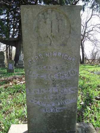 HINRICHS, GERD (GERHARDT) - Morgan County, Illinois | GERD (GERHARDT) HINRICHS - Illinois Gravestone Photos