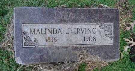 IRVING, MALINDA J. - Morgan County, Illinois | MALINDA J. IRVING - Illinois Gravestone Photos
