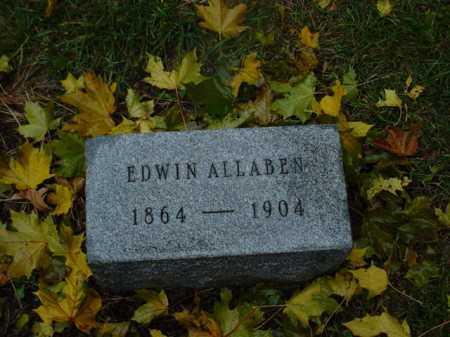 ALLABEN, EDWIN - Ogle County, Illinois   EDWIN ALLABEN - Illinois Gravestone Photos
