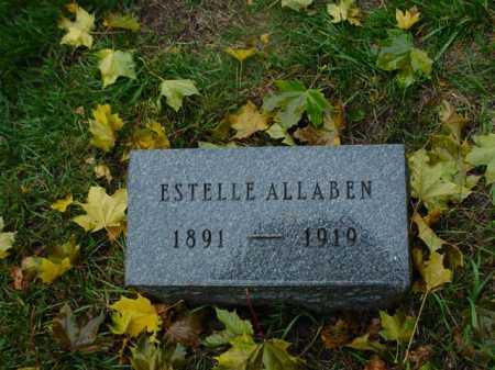 ALLABEN, ESTELLE - Ogle County, Illinois | ESTELLE ALLABEN - Illinois Gravestone Photos