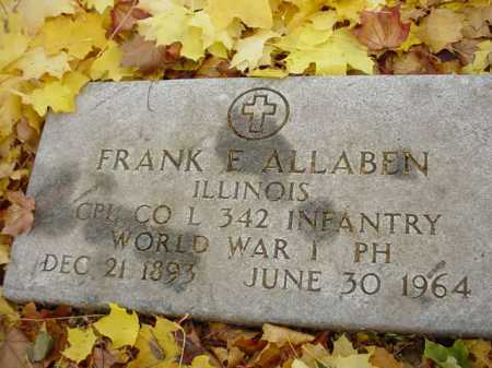 ALLABEN, FRANK - Ogle County, Illinois | FRANK ALLABEN - Illinois Gravestone Photos