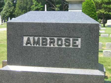 AMBROSE, FAMILY STONE - Ogle County, Illinois   FAMILY STONE AMBROSE - Illinois Gravestone Photos