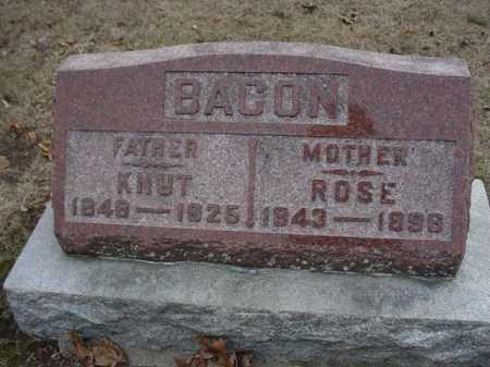BACON, KNUT - Ogle County, Illinois | KNUT BACON - Illinois Gravestone Photos