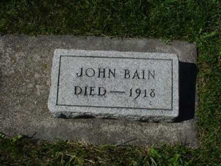 BAIN, JOHN - Ogle County, Illinois | JOHN BAIN - Illinois Gravestone Photos