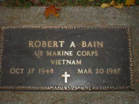BAIN, ROBERT A. - Ogle County, Illinois | ROBERT A. BAIN - Illinois Gravestone Photos