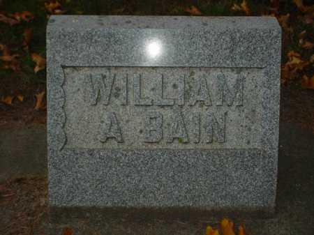 BAIN, WILLIAM A. - Ogle County, Illinois   WILLIAM A. BAIN - Illinois Gravestone Photos
