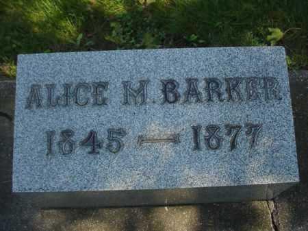 BARKER, ALICE M. - Ogle County, Illinois | ALICE M. BARKER - Illinois Gravestone Photos