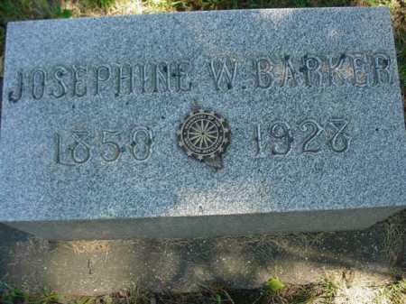 BARKER, JOSEPHINE W. - Ogle County, Illinois   JOSEPHINE W. BARKER - Illinois Gravestone Photos