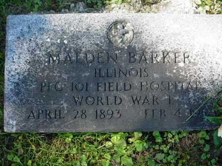 BARKER, MALDEN - Ogle County, Illinois | MALDEN BARKER - Illinois Gravestone Photos