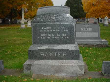 BAXTER, MARY - Ogle County, Illinois | MARY BAXTER - Illinois Gravestone Photos
