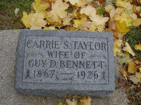 TAYLOR BENNETT, CARRIE S. - Ogle County, Illinois | CARRIE S. TAYLOR BENNETT - Illinois Gravestone Photos
