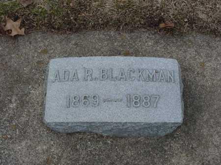 BLACKMAN, ADA R. - Ogle County, Illinois | ADA R. BLACKMAN - Illinois Gravestone Photos