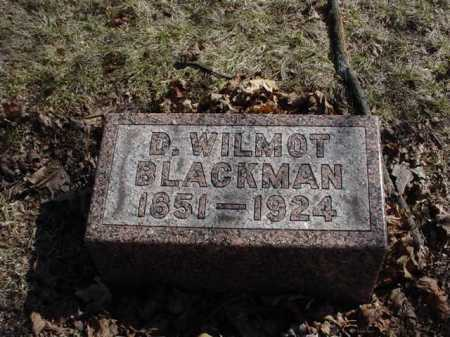 BLACKMAN, D. WILMOT - Ogle County, Illinois | D. WILMOT BLACKMAN - Illinois Gravestone Photos