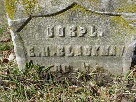 BLACKMAN, E. H. - Ogle County, Illinois | E. H. BLACKMAN - Illinois Gravestone Photos