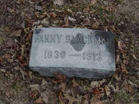 BLACKMAN, FANNY - Ogle County, Illinois | FANNY BLACKMAN - Illinois Gravestone Photos
