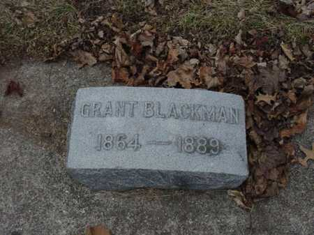 BLACKMAN, GRANT - Ogle County, Illinois | GRANT BLACKMAN - Illinois Gravestone Photos