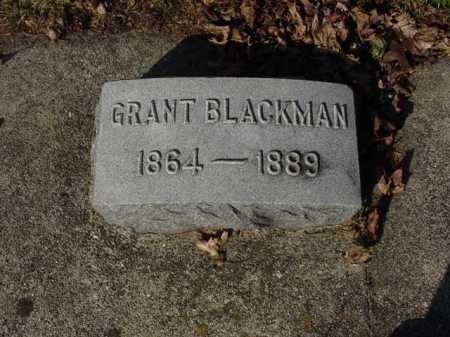 BLACKMAN, GRANT - Ogle County, Illinois   GRANT BLACKMAN - Illinois Gravestone Photos