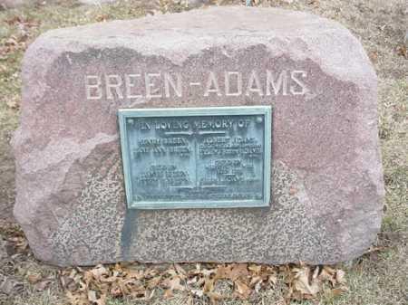 BREEN-ADAMS, FAMILY STONE - Ogle County, Illinois | FAMILY STONE BREEN-ADAMS - Illinois Gravestone Photos