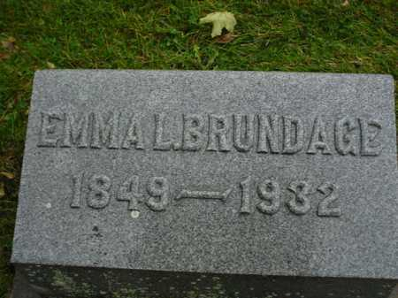 BRUNDAGE, EMMA - Ogle County, Illinois | EMMA BRUNDAGE - Illinois Gravestone Photos