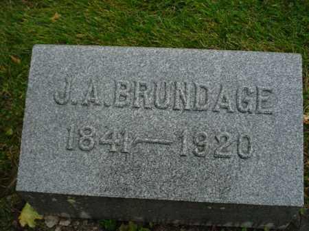 BRUNDAGE, JAMES A. - Ogle County, Illinois | JAMES A. BRUNDAGE - Illinois Gravestone Photos