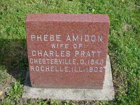 PRATT, PHEBE - Ogle County, Illinois | PHEBE PRATT - Illinois Gravestone Photos
