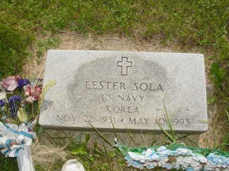 SOLA, LESTER - Ogle County, Illinois | LESTER SOLA - Illinois Gravestone Photos